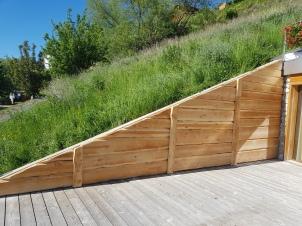 Après, mur en bois de mélèze