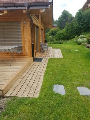 Terrasse en bois de mélèze